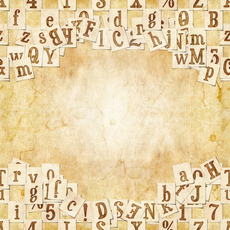 libertine: seamless background with letters . Linux Libertine fonts used in the image ( GPL  and OFL license ) Stock Photo