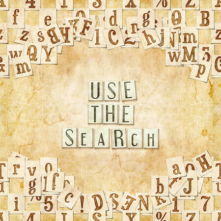 searchengine: seamless background with letters . Linux Libertine fonts used in the image ( GPL  and OFL license ) Stock Photo