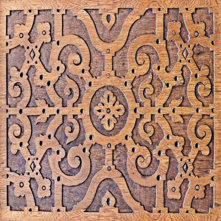 wood work decorating  converted to seamless tile  Tile conversion is contained within flat border   To create an image using several samples photo