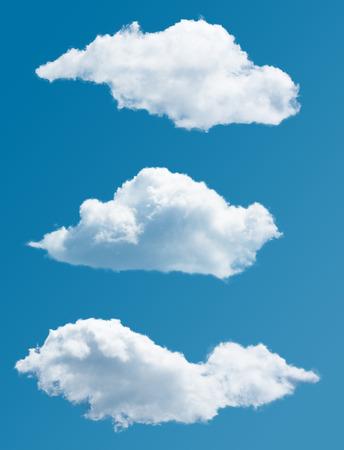 aislado: La recogida individual pintorescas nubes