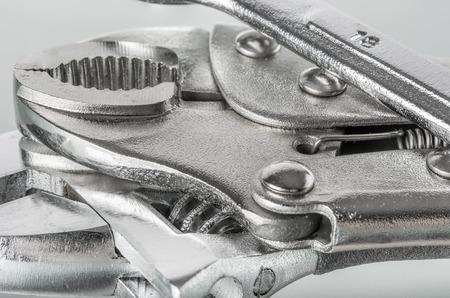 Closeup of chrome tools photo