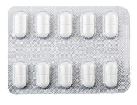 Silver blister packs pills collection 版權商用圖片