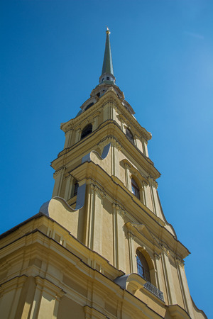 st  petersburg: ST. PETERSBURG, RUSSIA - JULY 11, 2016: bell tower of Peter and Paul Cathedral, St. Petersburg, Russia