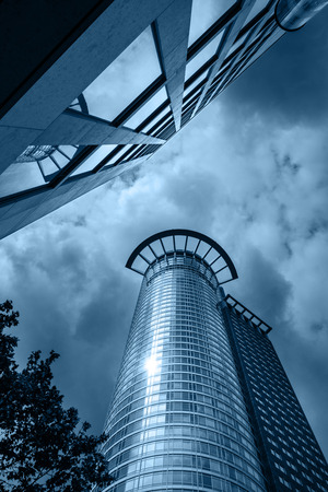 FRANKFURT AM MAIN, GERMANY - MAY 18, 2016: Westend tower skyscraper. It is the third tallest skyscraper in Frankfurt. Frankfurt am Main is a dynamic and international financial and trade city with the most imposing skyline in Germany.