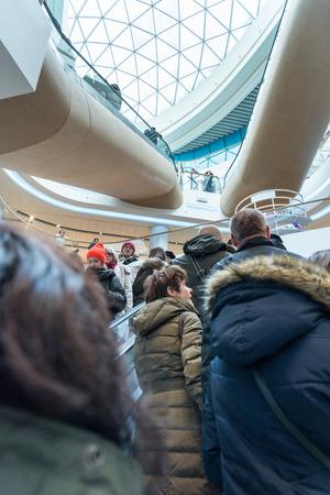 renewed: KIEV, UKRAINE - DECEMBER 04, 2016: The opening of the renewed shopping mall  CUM. Kiev, Ukraine. Editorial