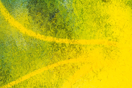 deteriorated: abstract graffiti on rough concrete surface Stock Photo