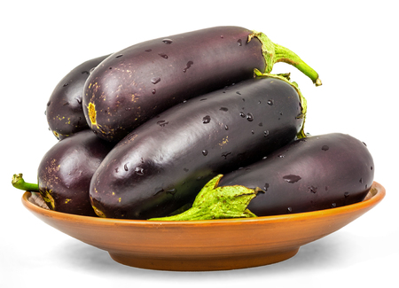 Eggplant . Isolation on a white background with a clipping paths