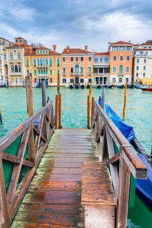 Berth for gondolas and boats in Venice