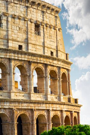 Rome, Italy - Oct 02, 2018: The Colosseum is the tourist center of Rome. View of the part