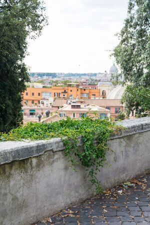 Rome, Italy - Oct 04, 2018: Beautiful view of the rooftops , Rome