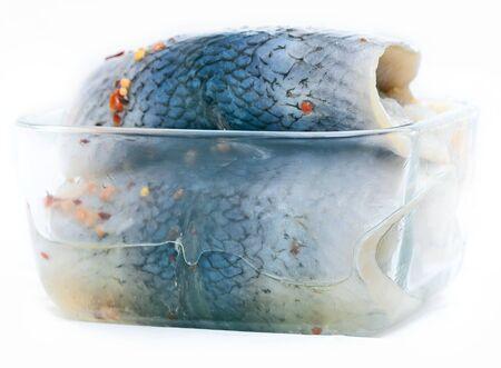 Atlantic herring backs salted in spicy brine