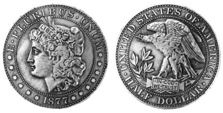 vintage United States of America original silver trade  half dollar
