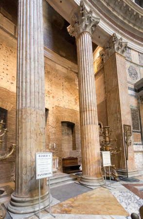 Rome, Italy - Oct 03, 2018: Tourists visiting the interior of the Pantheon Éditoriale
