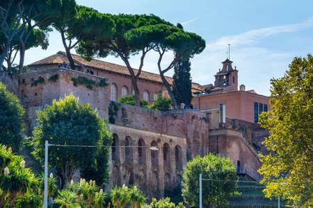 Rome, Italy - Oct 03, 2018: view of Basilica di Santa Sabina all'Aventino in Rome