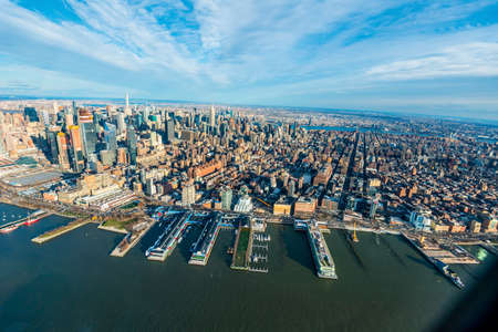 NEW YORK, USA - DEC 20, 2017 : View of Brooklyn from a height.
