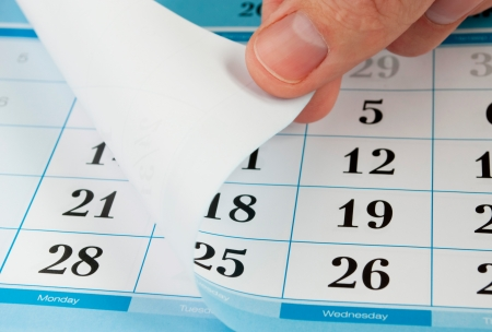 close up of a page of a calendar Stock Photo - 9923922