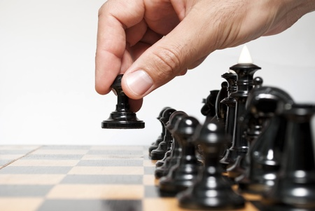 Chessboard and on it chessmen