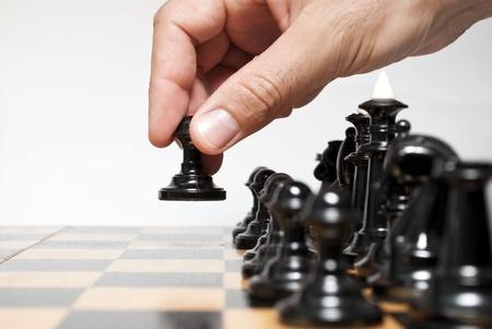 체스 판과 그것에 chessmen