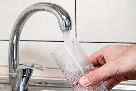drinkable: Tap water and a glass of water