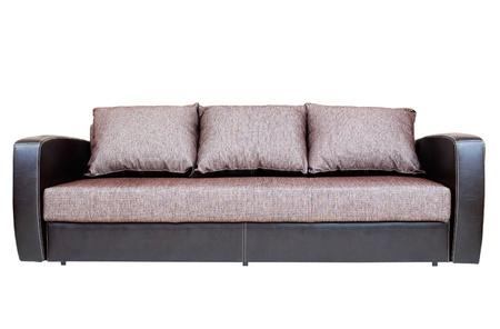 seater: Sofa on white background isolated Stock Photo