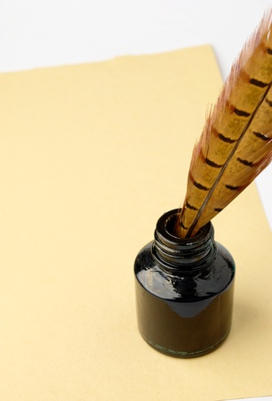old ink pen is inserted into Stock Photo - 10734688