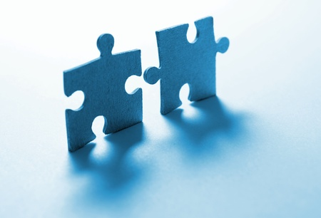 Game in puzzles in a blue shade Stock Photo - 11716034