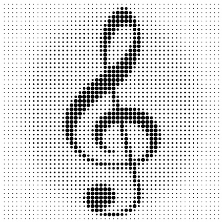classical style: treble clef on a white background Illustration