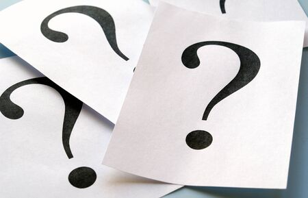 big question mark on the paper Stock Photo - 13273906