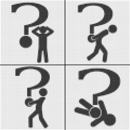 big question mark and the person Stock Vector - 13273932