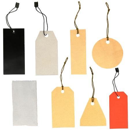 set of labels of various shapes on a white background Reklamní fotografie