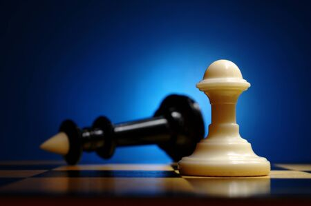Chess on a beautiful gradient background Stock Photo - 13640390