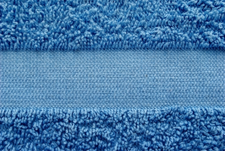 blue towel as a background for your message photo