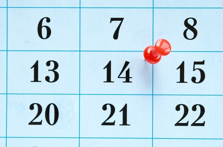 calendar and marked the date the pushpin photo