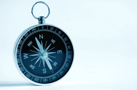 compass to determine the path and navigation. photo