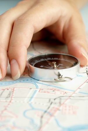 determine: compass to determine the path and navigation.