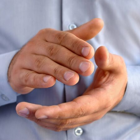 man clapping, hands close-up images