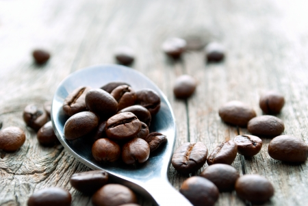 best coffee: coffee beans on the table