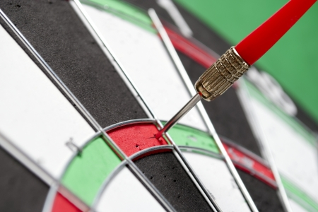 darts arrows in the target center Stock Photo - 17163593