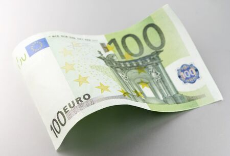 Euro, European Union money on a gray background Stock Photo - 17163548