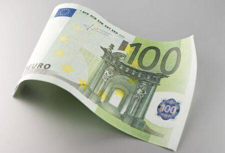 Euro, European Union money on a gray background Stock Photo - 17163608