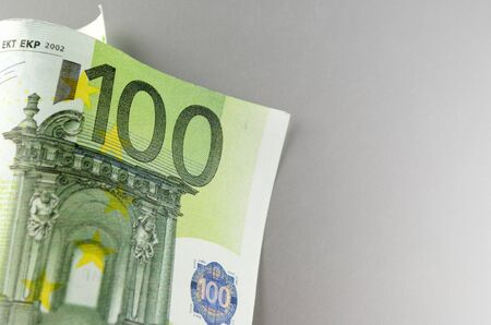 Euro, European Union money on a gray background Stock Photo - 17163634