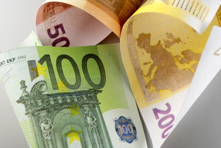Euro, European Union money on a gray background Stock Photo - 17163647
