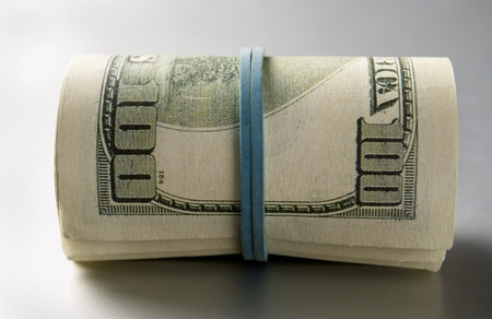 American dollars on a gray gradient background Stock Photo - 17163635