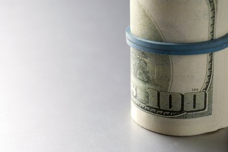 American dollars on a gray gradient background Stock Photo - 17163578