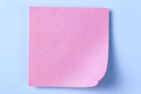 paper for important reminders on a blue background Stock Photo - 17163633