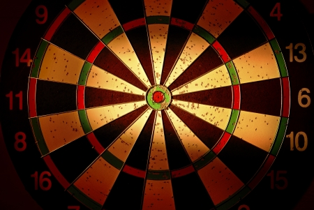 target for darts with creative lighting photo