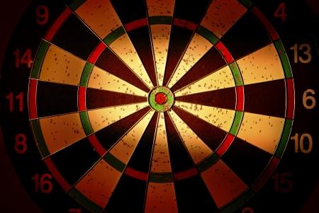 dart board: target for darts with creative lighting