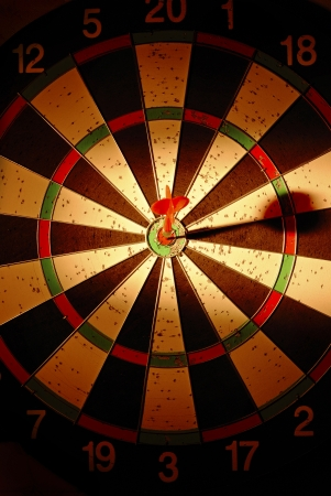 darts arrows in the target center Stock Photo - 17467122