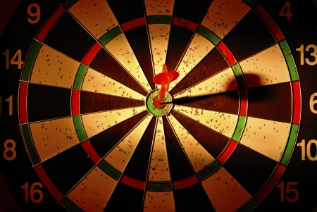 darts arrows in the target center Stock Photo - 17467115