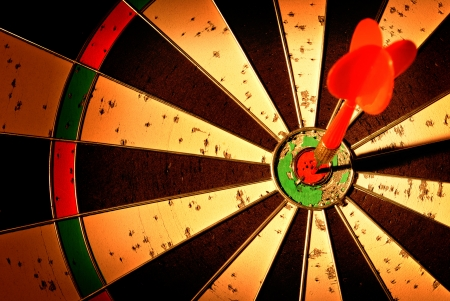 darts arrows in the target center Stock Photo - 17477798